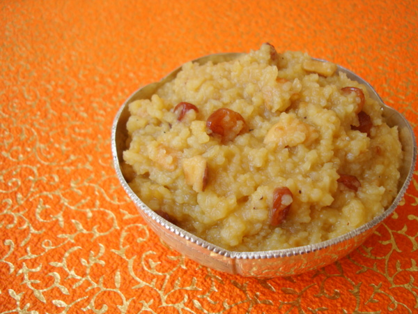Sweet Pongal recipe from mr.Idli