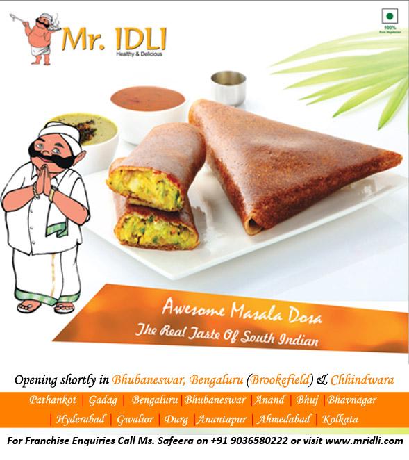 Delicacies at Mr.Idli Veg Restaurant.
