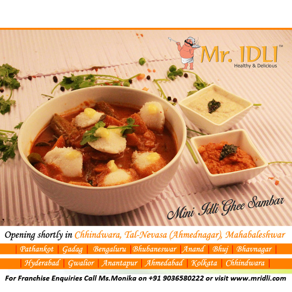 Visit  Mr.Idli and indulge in your favourite delicacies. You will never crave for Home Made Food again!