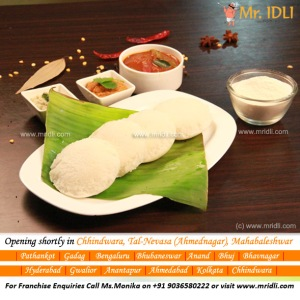 Soft Idlis from Mr.Idli Franchise Restaurant!
